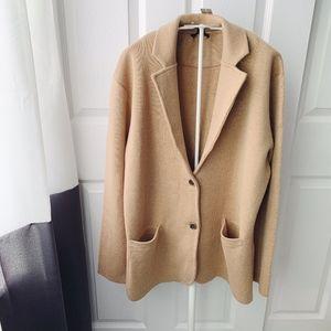 J. Crew Camel Sweater Blazer